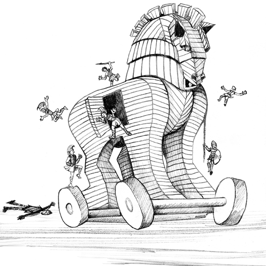 coloring book pages trojan horse | Trojan War Horse Coloring Page Coloring Pages